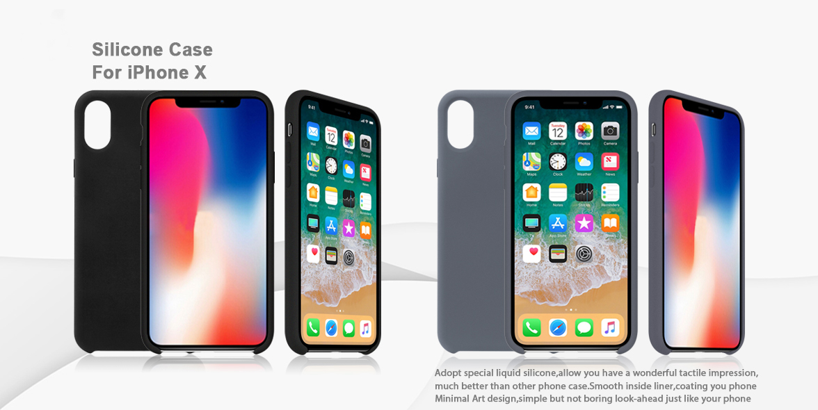 new arrival silicone case for iphone x